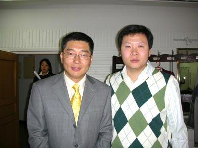 图文:吉新鹏的业余生活 与刘建宏一起做节目