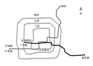 ■附件·7号线14号线规划路线图  14号线全长42公里,共设车站22座.图片
