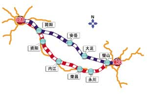 成渝城际铁路沿线