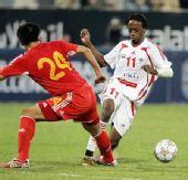 图文:阿联酋0-0国足 杜威堪称中国铁闸