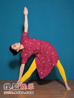 梅婷练瑜伽
