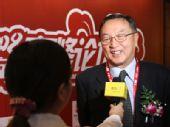 图:联想控股总裁柳传志接受采访