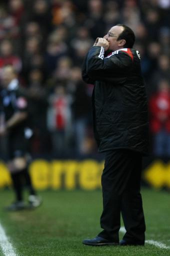 图文:[英超]米堡1-1利物浦 贝尼特斯呐喊