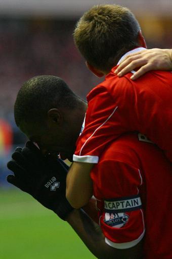 图文:[英超]米堡1-1利物浦 感谢上帝