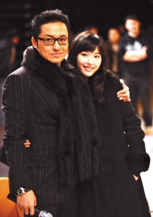 马景涛携小自己20岁的太太亮相