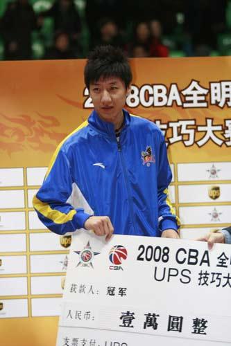 组图:CBA全明星赛后颁奖仪式 韩硕获技巧冠军