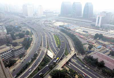 北京西直门桥_北京西直门桥指路牌更换百块 首次新增黄蓝两色-搜狐新闻