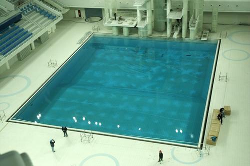 跳台水池俯视