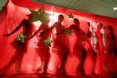 图文:天津奥运啦啦操队艰苦训练 突出中国符号