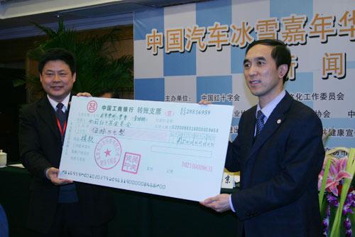 北京天青源科技有限公司向红十字会捐赠50万元人民币