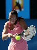 图文:澳网美女球衣五颜六色 青春的扬科维奇