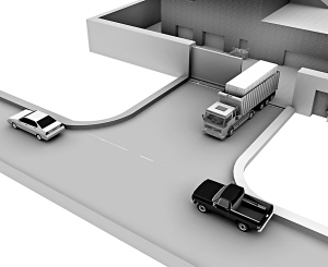 发现运输车开出来,负责盯梢的盗窃团伙车辆开始尾随行驶。