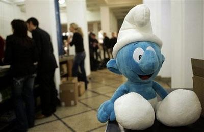 蓝精灵小玩偶