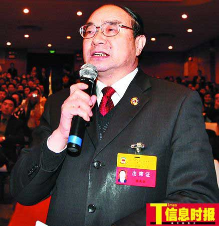 省政协委员、广东省政府参事室副主任余庆安   本版摄影 时报记者 杜翠