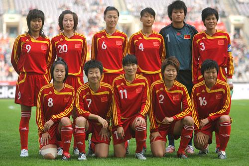 图文:[四国赛]中国VS美国 中国女足首发阵容