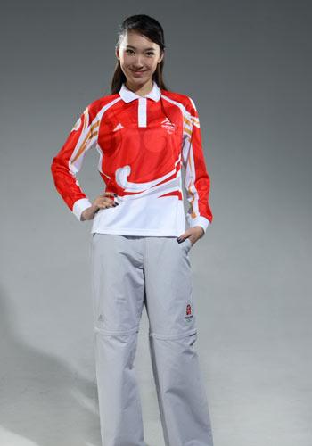 图文:北京奥运残奥制服发布 残奥工作人员制服