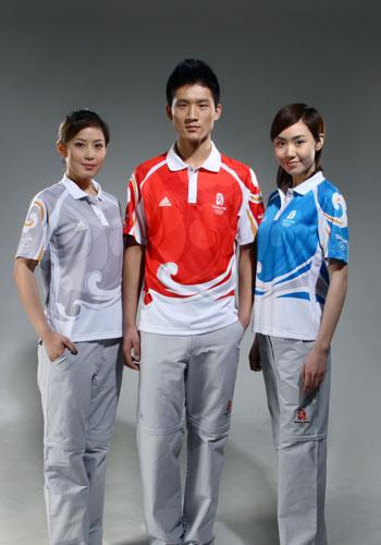 图文:北京奥运残奥制服 奥运会三款制服展示