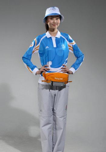 图文:北京奥运残奥制服 残奥志愿者制服展示