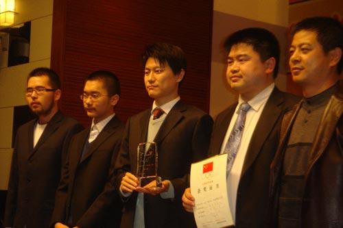 图文:2007金立手机杯围甲闭幕 北京大宝队领奖