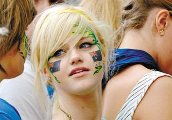 澳洲女孩的彩脸