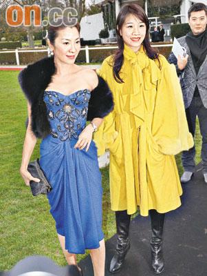 杨紫琼(左)偕同干女儿潘楚颖远赴巴黎看秀