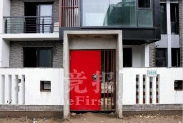 奥运村中式风格的院门