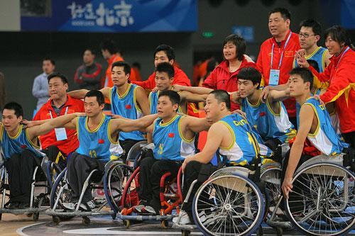 图文:好运北京国际轮椅篮球邀请赛 中国队合影