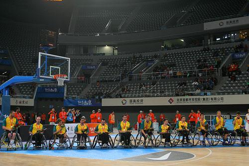 图文:轮椅篮球邀请赛加拿大夺冠 银牌澳大利亚