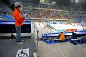 图文:国家体育馆无障碍设施 无障碍文字媒体席
