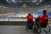 图文:国家体育馆无障碍设施 二层无障碍观众席