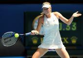 图文:莎拉波娃2-0伊万诺维奇 莎娃大力回球