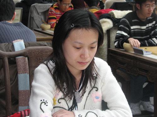 女子冠军唐奕比赛中