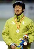 图文:速滑于凤桐获男子1000米冠军 激动万分