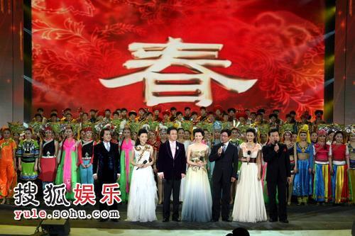 主持人周涛、朱军、李咏、董卿、张泽群、刘芳菲、白岩松