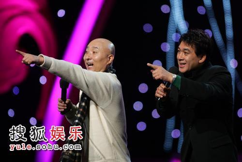 图:录制现场 陈佩斯、朱时茂