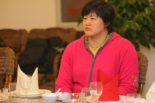 图文:辽宁副省长探望奥运健儿 运动员在座谈会