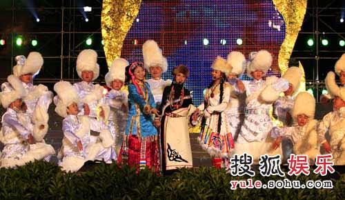 三位藏族金花演唱藏族歌曲《卓玛》