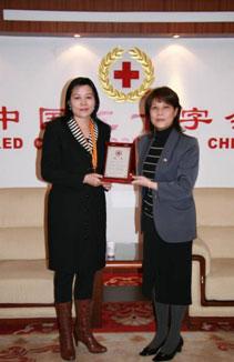 百事中国接受人道服务奖章及证书
