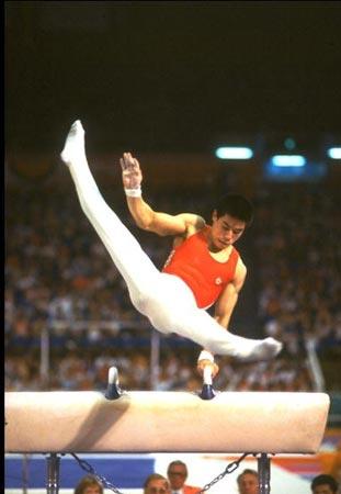 图文:北大奥运冠军 李宁