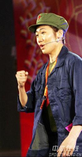 图文:国羽春节联欢晚会搞笑不断 加油努力么