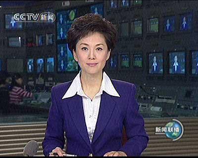 """2007年12月,海霞首次亮相央视""""新闻联播""""。"""