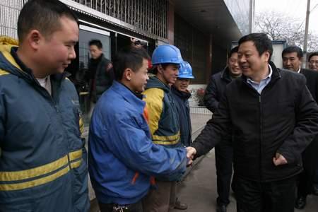 中国电信总经理王晓初慰问抗灾一线员工