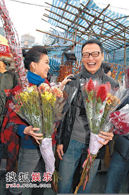 陶大宇与前妻开心过年