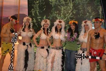 智利展台的土著人风采。