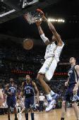 图文:[NBA]黄蜂胜灰熊 韦斯特双手暴扣