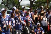 图文:NFL全明星赛场外即景 有组织的球迷团队