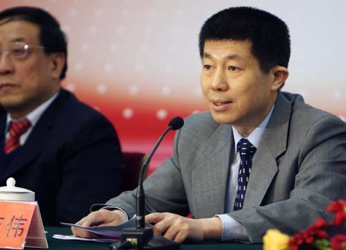 北京奥组委副秘书长张志伟在首发仪式上致辞
