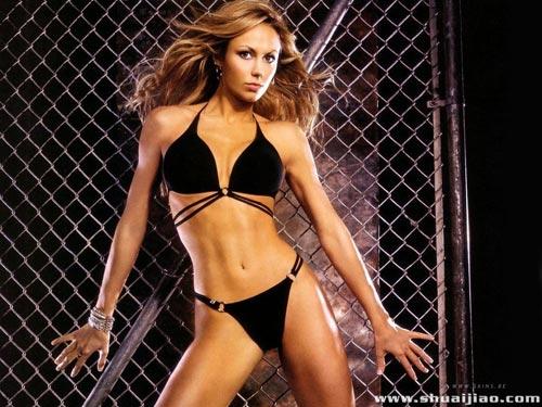 图文:美国性感摔角美女写真
