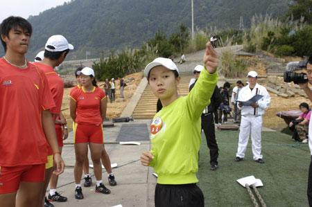 图文:奥运舵手总决赛10进9 江苏赛区潘潘