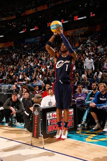 nba 远投/图文:[NBA]三分远投大赛 吉普森投篮出手